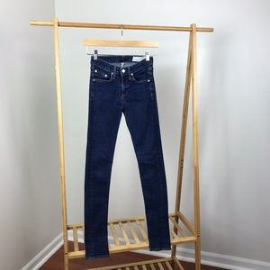 Rag & Bone • High Rise Skinny Jeans Heritage Wash